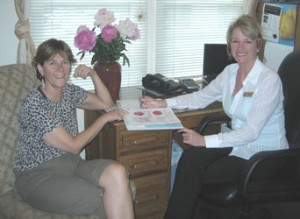 Counselor and client during an individual check-in session
