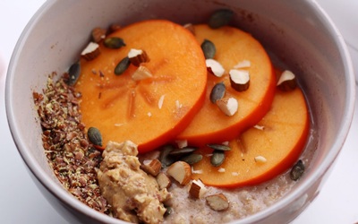 Crock Pot Persimmon Oatmeal