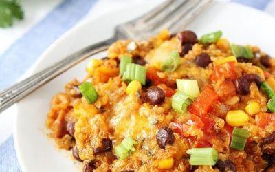 "Baked Quinoa & Black Bean ""Enchilada"""